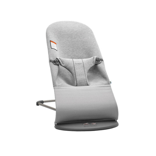 Bouncer Bliss is a lightweight and handy baby bouncer with a gray frame and a fabric seat in quilted cotton, super-soft 3D jersey or airy mesh.