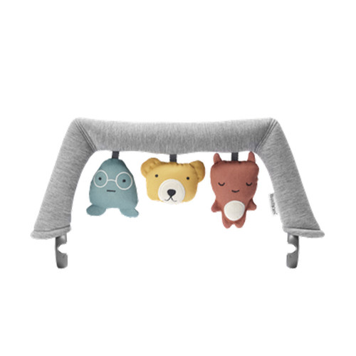 All good things come in threes! These cute friends have a bell that's sure to make your baby smile.