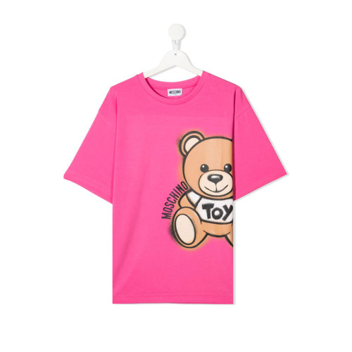 New Season Moschino Kids TEEN teddy bear-print short-sleeved T-shirt