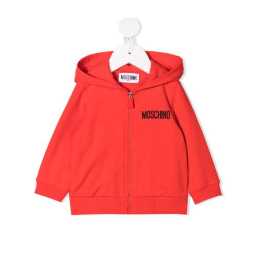 New Season Moschino Kids Teddy Bear print hoodie