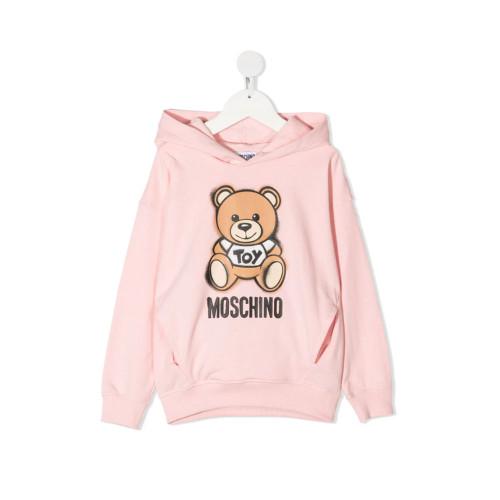 New Season Moschino Kids teddy print hoodie