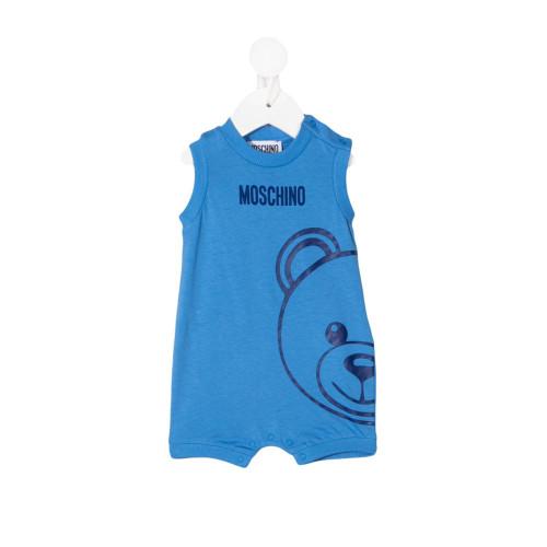 New Season Moschino Kids teddy logo print bodysuit