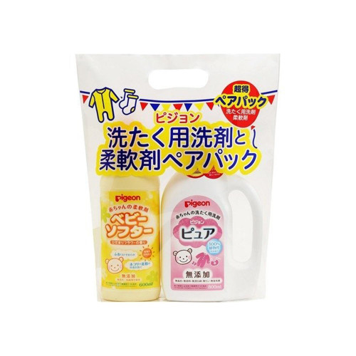 Pigeon Baby Washing Detergent Pure & Baby Softener Baby Softer Pair Pack