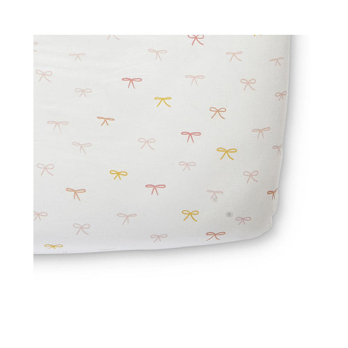 """Crafted in brushed cotton, this breathable and soft crib sheet will give your little one the perfect night's sleep. Designed to ensure a safe snug fit, our baby crib sheet fits cots and mattresses up to 52"""" x 28"""" x 8"""" and stay soft wash after wash."""