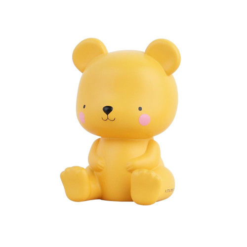 Falling asleep becomes a lot easier with this little bear friend. He also makes the bedroom of your little one a lot cosier! The salted caramel-colored bear has a beautiful soft glow and due to the LED light keeps the outer material stays cool. The handy timer function makes the light turn off automatically after 15 minutes.