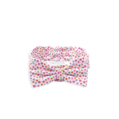 From the Unicorn Gardens Collection. An adorable accessory for your little one, this headband features a self-fabric bow and allover floral design.