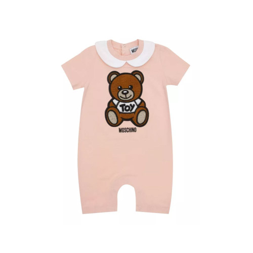 Start your little one's day off with a smile with this romper by Moschino.