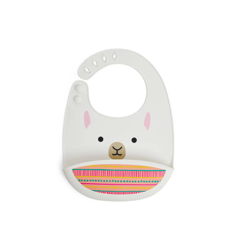 Most baby and toddler bibs get quickly stained and contribute to your laundry pile. Our Zoo Fold & Go Silicone Bib easily wipes down for quick cleanup. You can even pop it in the dishwasher! With a deep pocket to catch crumbs, it's made of food-safe silicone and has an adjustable neck strap for baby's comfort. Even better? The travel-ready design easily folds right into the pocket for on-the-go!