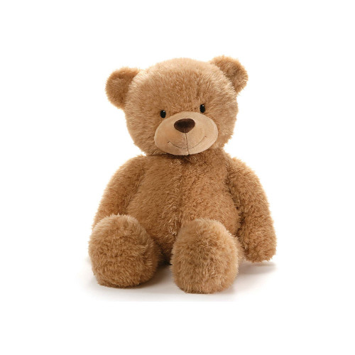 One of our most popular character bears, sized 29-inch ginger colored seated plush toy format.