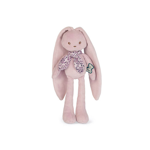 This cheerful pink rabbit has such long ears that you can hang it anywhere to  keep it and never lose it.
