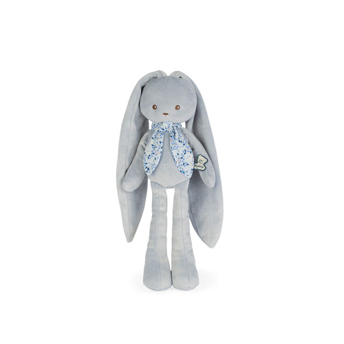 This cheerful blue rabbit has such long ears that you can hang it anywhere to  keep it and never lose it.