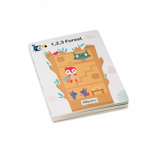 Discover, together with your child, which friends live in the tree and count them using the windows on the puzzle pieces. As the story progresses, place the puzzle pieces on top of each other, from 1 to 5, and you will end up with a giant tree. The puzzle is recto verso: double fun!