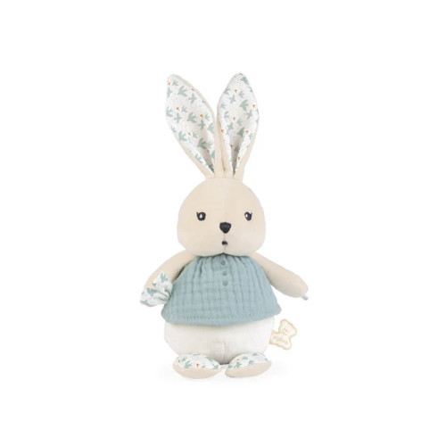 Here is a sweet rabbit doll with a plump head and body waiting to give the  warmest cuddles.