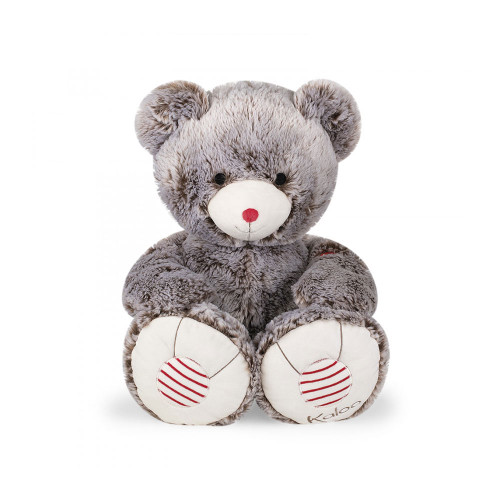 55 cm prestige bear with a silky smooth fur and such an elegant grey color. Its exceptionally large size will guarantee real big hugs. A tag to customize with words of love will fill your gift with emotions.