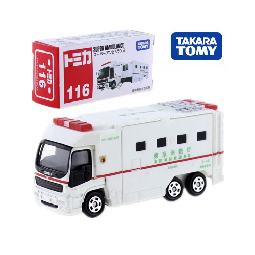 Takara Tomy Tomica No.116 SUPER AMBULANCE Model Kit Diecast Miniature Cargo Toy Collectibles Pop Kids Dolls Funny Bauble Mould