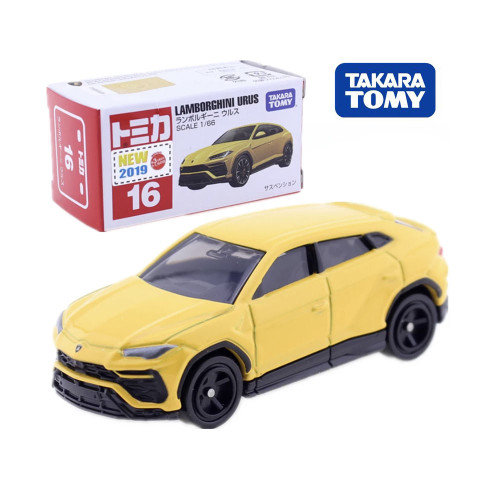 Takara Tomy Tomica No.016 Lamborghini Urus Scale 1/66 Car Hot Pop Kids Toys Motor Vehicle Diecast Metal Model Collectibles New