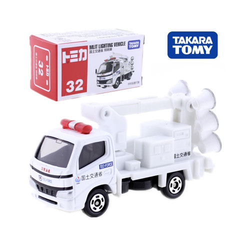 Takara Tomy Tomica No.32 DYNA Ministry Of Land MLIT LIGHTING Truck Diecast Hot Baby Toys Model Funny Magic Kids Dolls