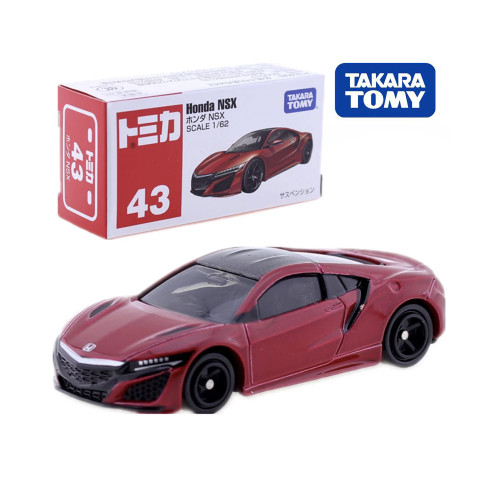 Takara Tomy Tomica No.43 Honda NSX Red Car 1/62 Miniature Diecast Baby Toys Model Kit Pop Funny Kids Dolls Collectibles