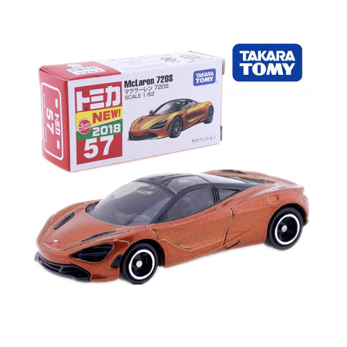 Takara Tomy Tomica No.57 McLaren 720S Sport Car 1/62 Diecast Hot Model Kit Funny Kids Toys Pop Baby Dolls Magic Puppets
