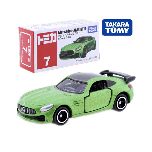 Takara Tomy Tomica No.7 Mercedes Benz AMG GT R Sport Car Model Kit 1/65 Diecast Roadster Toy Mould Collectibles