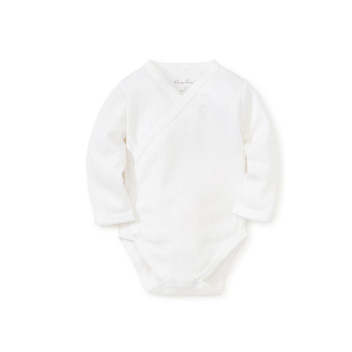 The perfect addition for baby's wardrobe, our textured 100% pima cotton bodysuit will feel oh-so-soft and comfortable against your little one's skin. Snaps make for easy changing.