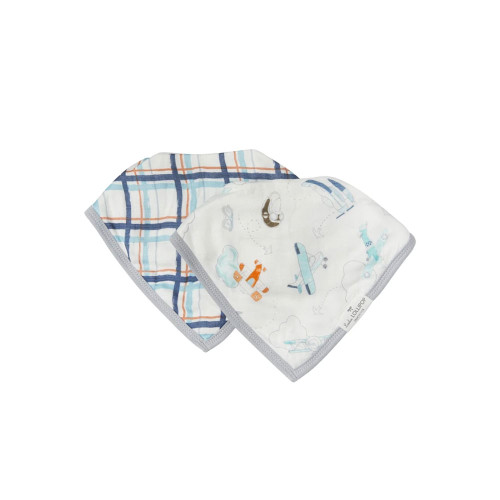 Our muslin bandana drool bibs have a super-absorbent terry backing to withstand dribbles, spit-ups, and drools.