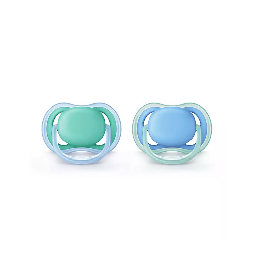 Soothe your baby with the caring comfort of the set of 2 Philips Avent Ultra Air Pacifiers.