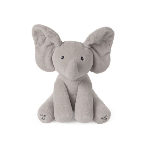 Animated plush Flappy the Elephant by Baby GUND is an adorable singing elephant with two different play modes.