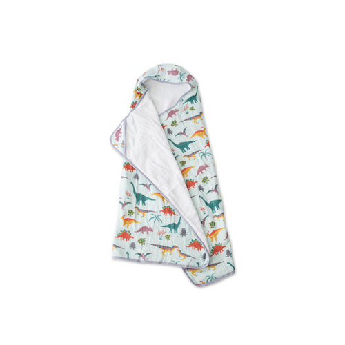 Dive into bath time with a soft, absorbent hooded towel.