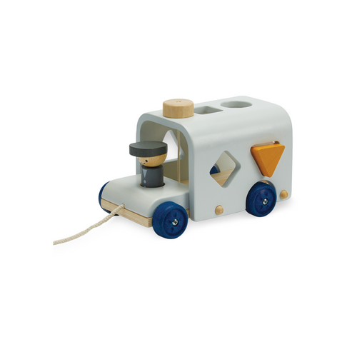 An cute little sorting bus for your little to pull around and love!
