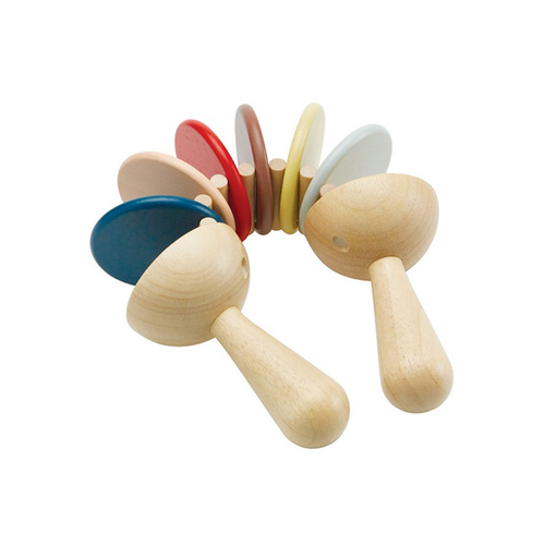 Using an alternating up and down motion with both hands, the toy's colorful segments will create various click-clack sounds.