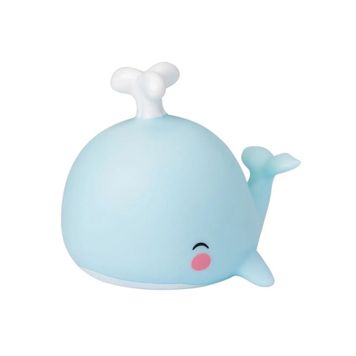 Our cool, blue whale light feels right at home on your little one's nightstand