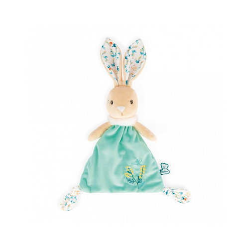 Justin the Rabbit is a cheerful doudou made of bright colors