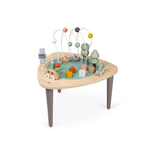 This multi-activity wooden table is perfectly suited for toddlers