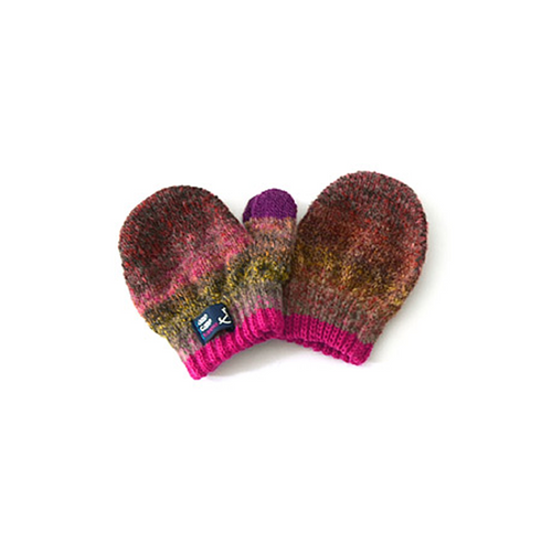 Wool blend and warm colorful gloves made in Japan