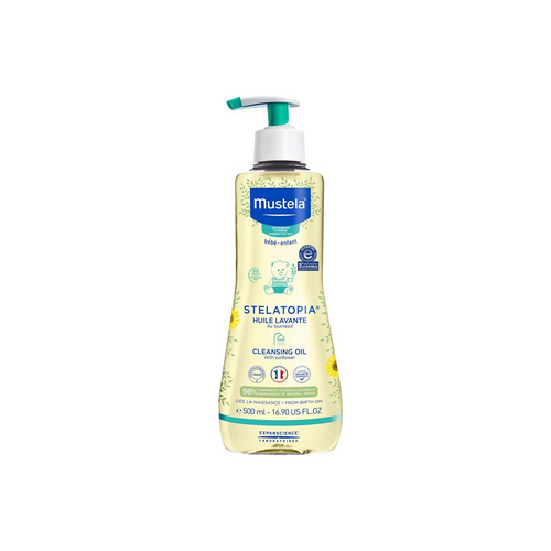 Stelatopia Cleansing oil for eczema-prone skin is fragrance-free