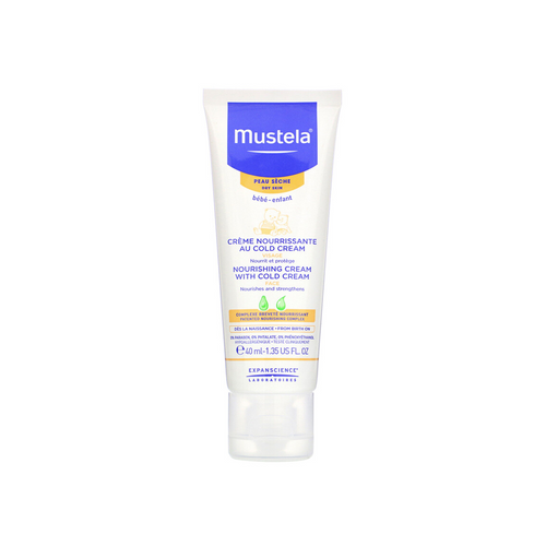 Give your little one relief from uncomfortable dry skin with Mustela's Nourishing Face Cream with Cold Cream, an effective formula that deeply penetrates to hydrate and nourish skin.