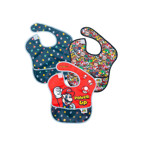 Our Nintendo Super Mario SuperBibs save you from the mess!
