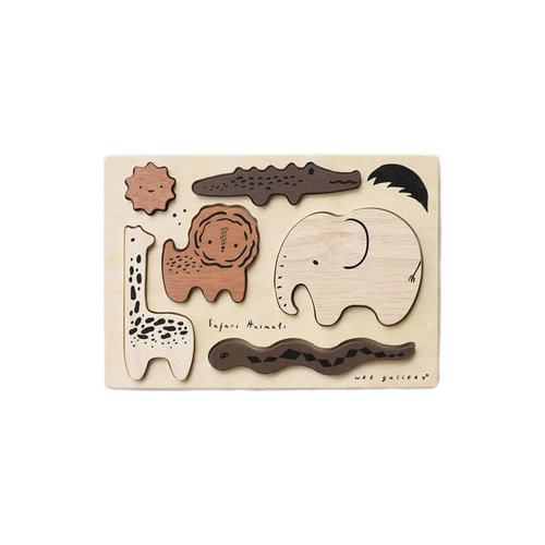 This beautiful six piece Wooden Puzzle is perfect for so many kinds of play!