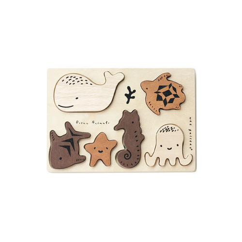 This beautiful six piece Wooden Puzzle is perfect for so many kinds of play