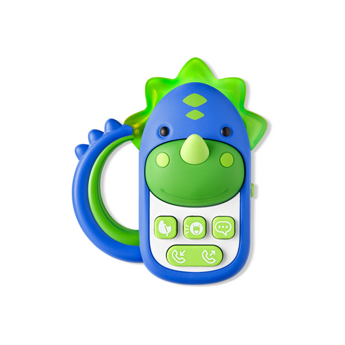 This engaging dino phone keeps baby busy and happy with fun sounds, tunes and more.