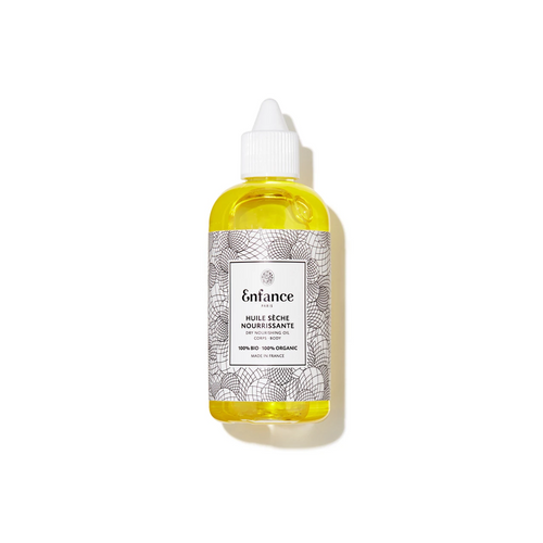 A dry oil composed of 100% precious organic oils and nothing else to nourish and soften the skin.