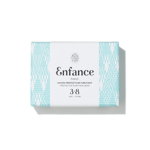 An extra-mild soap bar specific to the daily cleanse of 3-8 years old children.