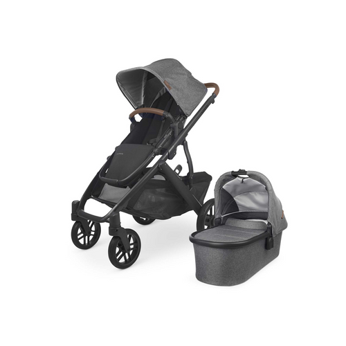 The VISTA is designed to grow with families offering multiple configurations, for a second or third child, all while strolling like a single.