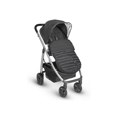 The UPPAbaby Ganoosh footmuff provides substantial warmth against the elements.