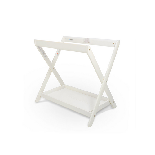 The Bassinet Stand has a secure elevated fixture for attaching your bassinet to keep baby up and off the floor.