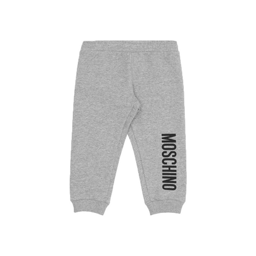 Gray joggers style trousers for baby boys and girls by Moschino Baby.