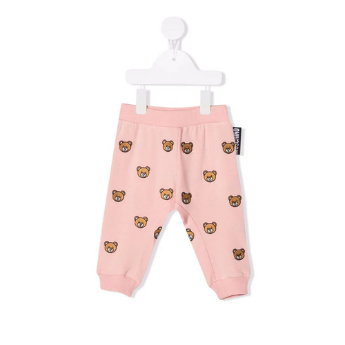 Teddy Bear-embroidered track trousers