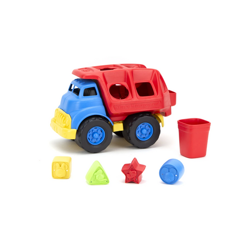 It's the best of vehicle and developmental play with the Green Toys™ Mickey Mouse & Friends Shape Sorter Truck!