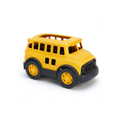 The Green Toys School Bus goes to the head of the class for safety and eco-design, with no metal axles or external coatings.